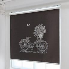 레이저롤스크린 - 꽃바구니 자전거